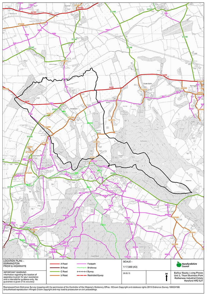 Dormington-Footpath-Map-1